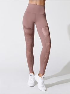 769c4800b6d49e ALO YOGA HIGH-WAIST MOTO LEGGING Smoky Quartz LEGGINGS Workout Leggings,  Workout Pants,