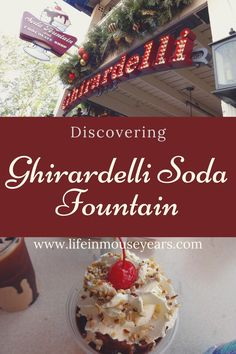 California Adventure has a soda fountain and chocolate shop where you can get chocolate or a cold treat. It is Ghirardelli! Once inside there is so much to see. Including a wall display that moves, makes sounds, and lights up! Click the link to find out more including what tasty treats you can try when you are there! www.lifeinmouseyears.com #lifeinmouseyears #ghirardellisodafountain #californiaadventure #yum #icecream #disneylandresort Yummy Treats, Sweet Treats, Soda Fountain, Chocolate Shop, Disneyland Resort, Life Is An Adventure, Treat Yourself, Icecream, Tasty