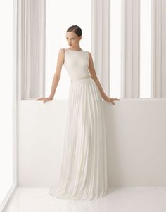 ARPA - Silk point body and skirt, in ivory.