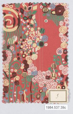 Design by Gustav Klimt for Wiener Werkstatte