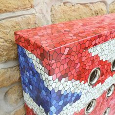 WAREHOUSE Union - Couture Cases with mosaic effect union jack imprint and colour matched top