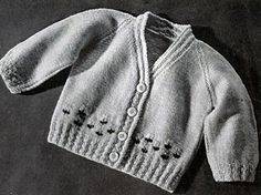 Baby Sweater #5312 pattern by The Spool Cotton Company