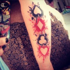 My Alice In Wonderland inspired tattoo. Painting the roses red
