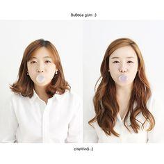 sisters photo by. wooubi studio 감성적인 자매 사진 _우유비 스튜디오  bubble gum concept pic