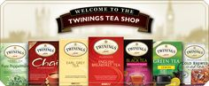 Welcome to the Twinings Tea Shoppe... They need a tea of the month club
