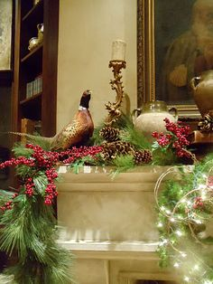 Love the natural garland idea for the mantel.