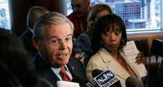 A perfect illustration of side-eye, thanks to Politico || Sen. Robert Menendez is shown. | AP Photo