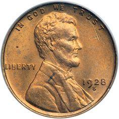Richard Hokanson RCI, has this item on Collectors Corner - 1928-S 1C MS64RD PCGS