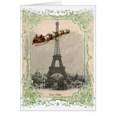 Paris christmas cards | Scrappy Mel - Christmas in Paris card ...