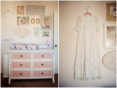 Vintage Nursery with a Beautifully Styled Gallery Wall - we love the upcycled vintage dresser!