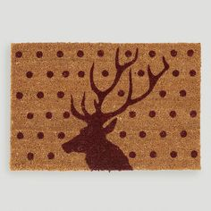 One of my favorite discoveries at WorldMarket.com: Stag  Doormat