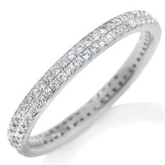 hsn Infinite Possibilities Absolute Double Row Micro Pave Eternity Stack Ring 7 #InfinitePossibilitiesbyAbsolute #Band