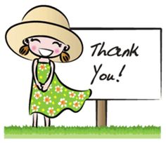 green dress girl by Wenpei Thank You Qoutes, Thank You Images, Thank You Cards, Thanks Card, Give Thanks, Cartoon Pics, Cute Cartoon, I Love You God, Thank You For Loving Me