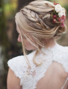 Hair, Flowers, Wedding, Florals, Fall