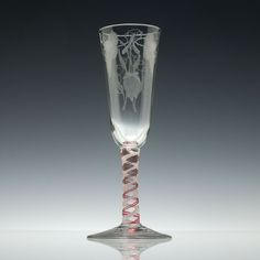 Buy Engraved Century Georgian Red Colour Twist Ale Glass and other Ale Glasses products from Exhibit Antiques. Art Nouveau, Vintage Champagne Glasses, Gin Glasses, Glass Museum, Antique Glassware, Wine Goblets, Drinking Glass, Antique Stores, Red Color