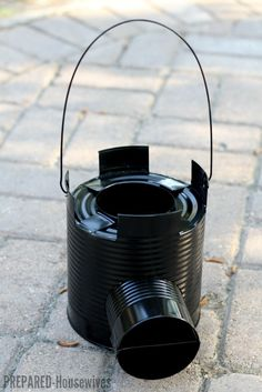 ROCKET STOVE: Build one with a #10 Can and Some Scraps!
