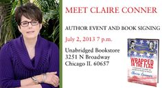 Announcement of my first book event at Unabridged Books, Chicago IL, July 2, 2013