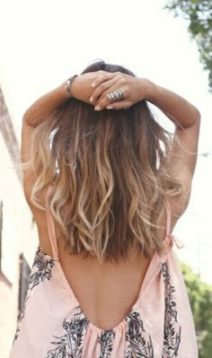 Trendy Hair Color Blonde And Brown Summer Long Bobs Ideas Trendy Haarfarbe Blond Und Braun Som Summer Hairstyles For Medium Hair, Trendy Hairstyles, Straight Hairstyles, Everyday Hairstyles, Balayage Straight Hair, Balayage Hair, Medium Hair Styles, Curly Hair Styles, Cabelo Ombre Hair