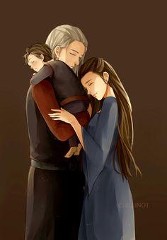 Lyanna Stark, Rhaegar Targaryen and John Snow.