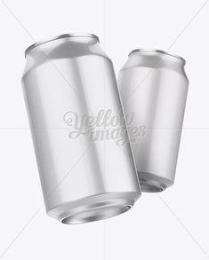 330ml Aluminium Cans Mockup