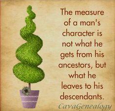 How do you measure a man's character? #genealogy #famfinger
