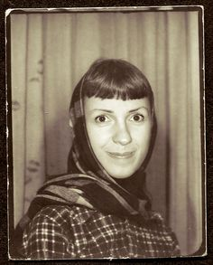 Someone has been KISSING the Curtain.....but I Love the BANGS Vintage Photo booth