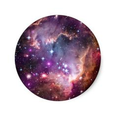 Purple Small Magellanic Cloud Classic Round Sticker