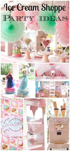 Gorgeous ice cream shoppe girl birthday party! See more party ideas at CatchMyParty.com.