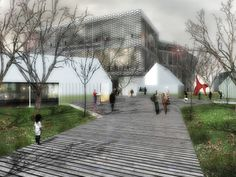 "Gallery of Competition Entry: SCStudio Transforms Budapest Park into ""Urban Archipelago"" - 1"