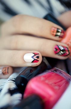 Cool accent for your tribal nails