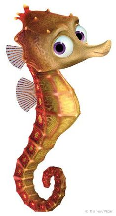 Do you need a fitting gift for a special Disney fan? This Finding Nemo Sheldon baby seahorse Print is a perfect gift for any fan. Disney Pixar, Disney Art, Disney Animation, Finding Dory, Nemo Dori, Kleiner Muck, Baby Seahorse, Seahorse Tattoo, Cartoons