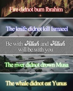 Be with Allah, and Allah will be with you, Insha Allah.