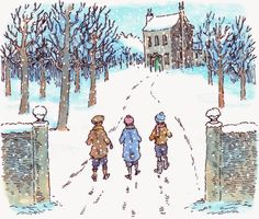 'A CHILD'S CHRISTMAS IN WALES' by Dylan Thomas. Illustrations by Peter Bailey
