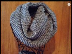 Knitted INFINITY ScarfGrey Heather by SilverFoxxTreasures on Etsy, $30.00