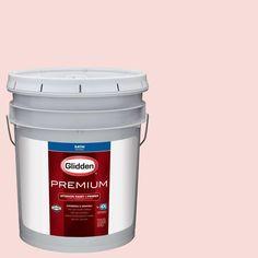 Glidden Premium 5 gal. #HDGR55U Pink Mimosa Satin Interior Paint with Primer