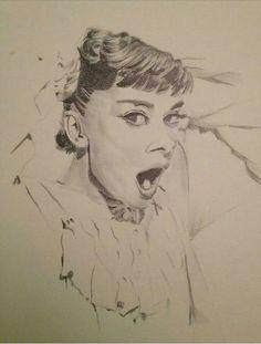 Audrey Hepburn graphite