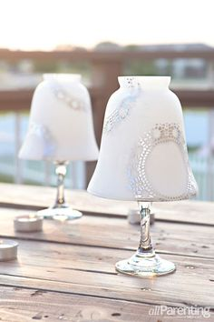 allParenting wine glass candle holders