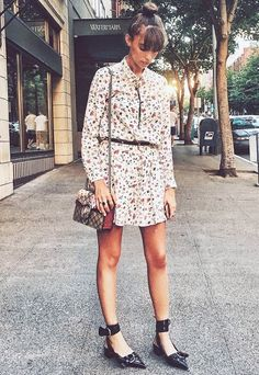 Style Tip: Liven up a simple floral dress with a pair of statement shoes.
