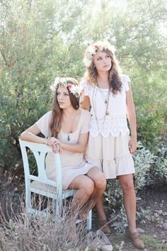Styled Shoot: Desert Flower Crown Girls in Lace Boho Dresses by @Lexi Moody | Done Brilliantly