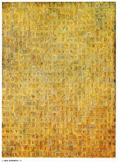 Jasper Johns, Gray Alphabets (1956)