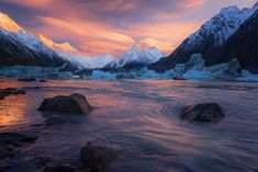 Tasman Glacier Lake New Zealand   by Sapna Reddy Photography. [16001067] #reddit