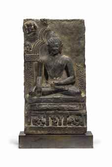 A BLACK STONE STELE OF BUDDHA NORTHEASTERN INDIA, PALA PERIOD, 11TH/12TH CENTURY 13-1/2: USD 16,000 Christies