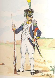 French; 26th Line Infantry, Voltigeur Corporal,Grande Tenue, 1809
