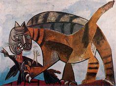 Cat Eating Bird Pablo Picasso