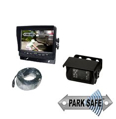 "Parksafe 26-073 Heavy Duty 5"" Monitor & Reverse Camera System Reverse Mirror, Monitor"
