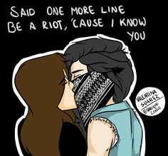 Camren adaptation of Robbers by The 1975Quick drawing (: Hope you like it.