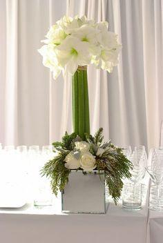 wedding decor with amaryllis flowers - Google Search