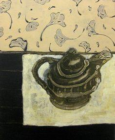 Tea 2011 oil on panel by David Konigsberg