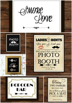 Buffet Signs, Welcome Signs, Seating Signs and more