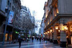 Downtonw shopping area - Santiago of Chile